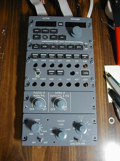 Nav/Com, Radar and Audio Panels for my A340
