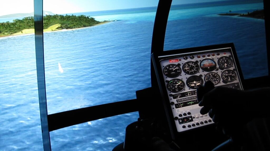 Bora Bora flight with Simulator