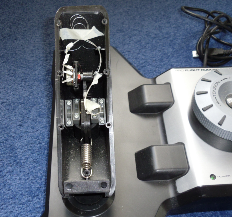 Mods to Saitek rudder pedals