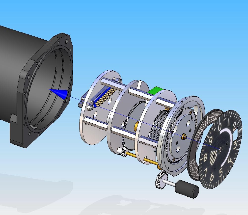 3D model of the altimeter conversion
