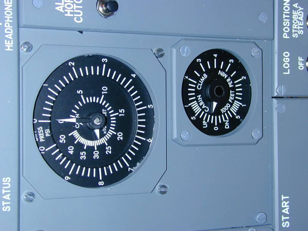opencockpit gauges are installed on overhead