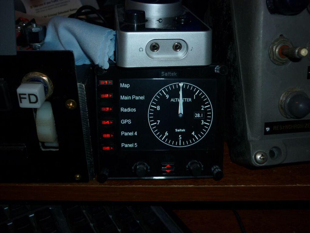My saitek gauge