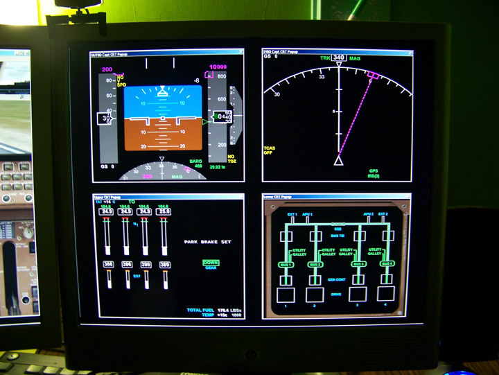 Flight instruments display