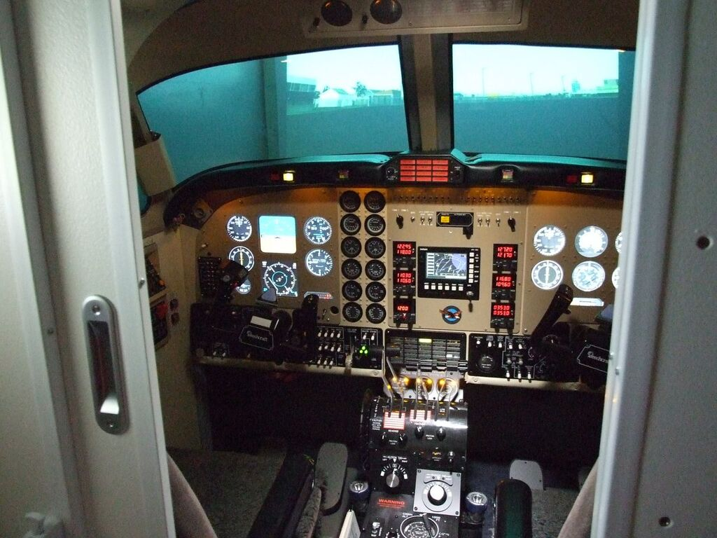 View inside of the cockpit from the cabin