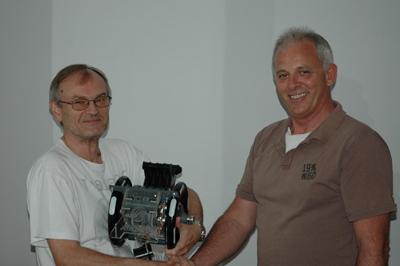 Erhard Wallentin receives his TQ!